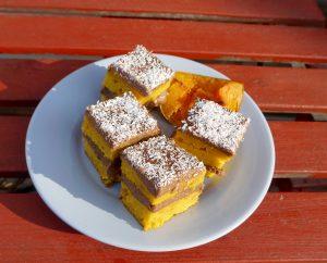 kukoricadara krémes-sütőtökös szeletben